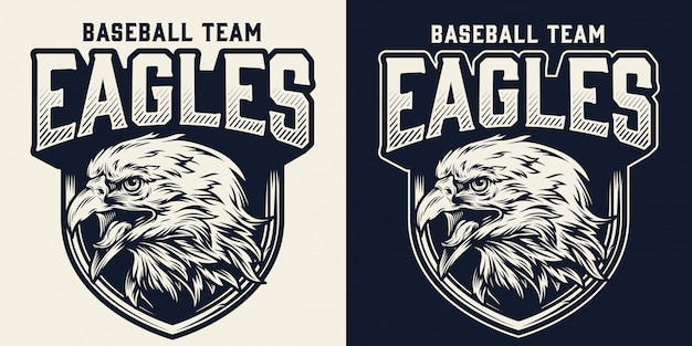 Baseball team monochrome logo
