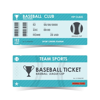 Baseball ticket, guidelines