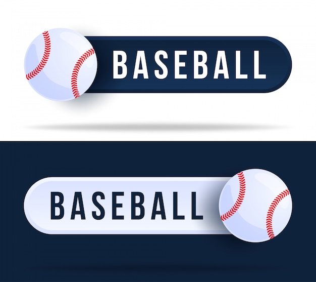 Baseball toggle switch buttons. illustration with basketball ball and web button with text