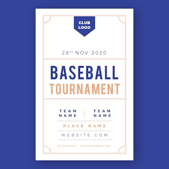 Baseball tournament sport flyer template