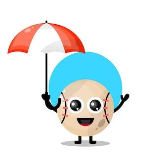 野球傘かわいいキャラクターマスコット