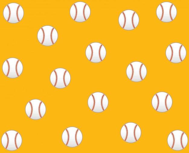 Baseball vector icon pattern background