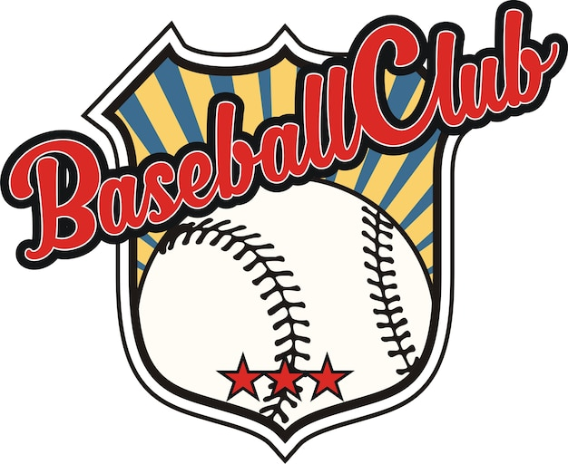 Baseball with shield design elements