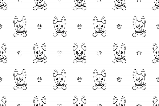 バセンジー犬のシームレスパターン