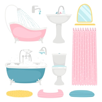 Basic bathroom elements set