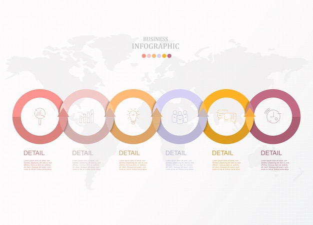 Basic circles infographic for business