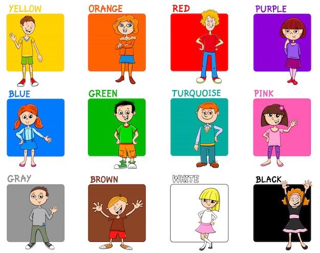 Основные цвета учебного набора с детьми