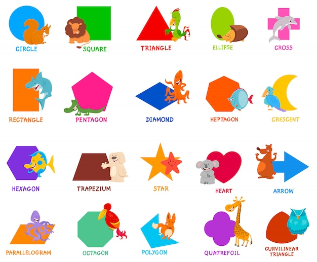 Basic geometric shapes for children
