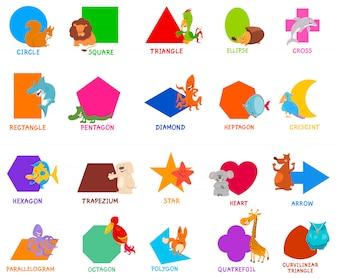 子供のための基本的な幾何学的図形