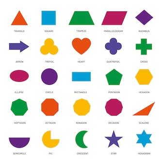 Basic geometric shapes set