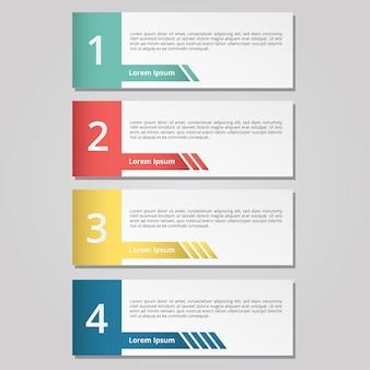 Основной список инфографический цвет