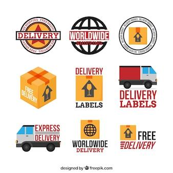 Confezione base di etichette di consegna
