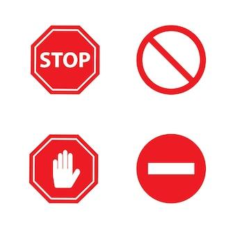 Основные символы остановки векторные иллюстрации