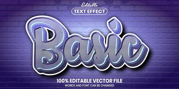 基本テキスト、フォントスタイルの編集可能なテキスト効果