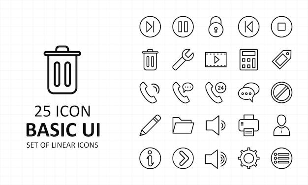 Basic ui icon pixel perfect icons