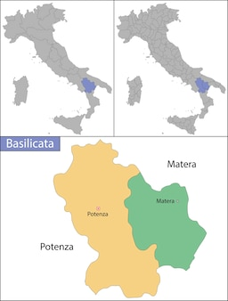 Basilicata is an administrative region in southern italy