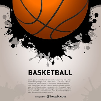 Basket ball and black paint splashes