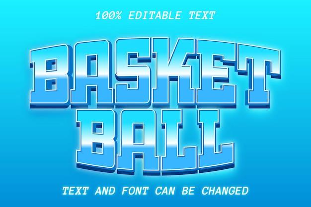 Basket ball editable text effect modern style
