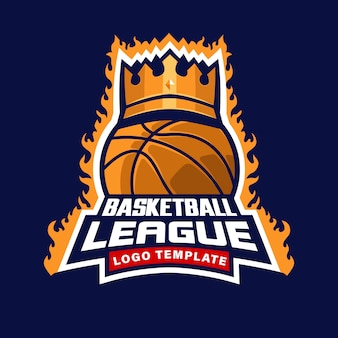 Basket ball league logo template