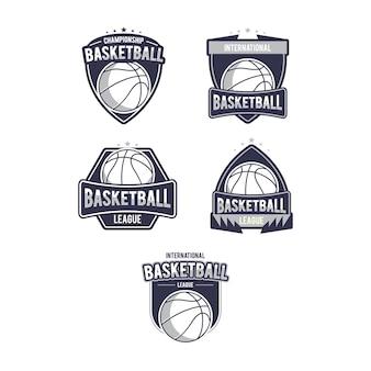 Набор логотипов для баскетбола