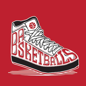 Basket ball sneaker typography