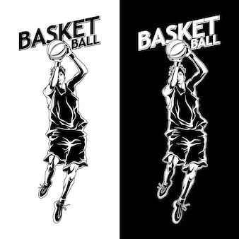 バスケットボールスポーツイラスト