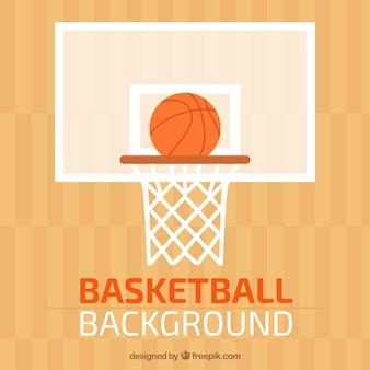 Корзина баскетбол фоне в плоском дизайне