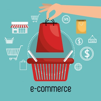 Basket e-commerce shop online design