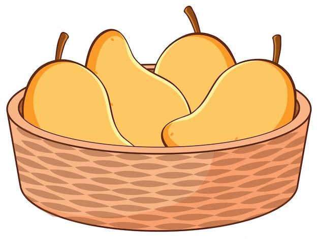 Basket of mangoes
