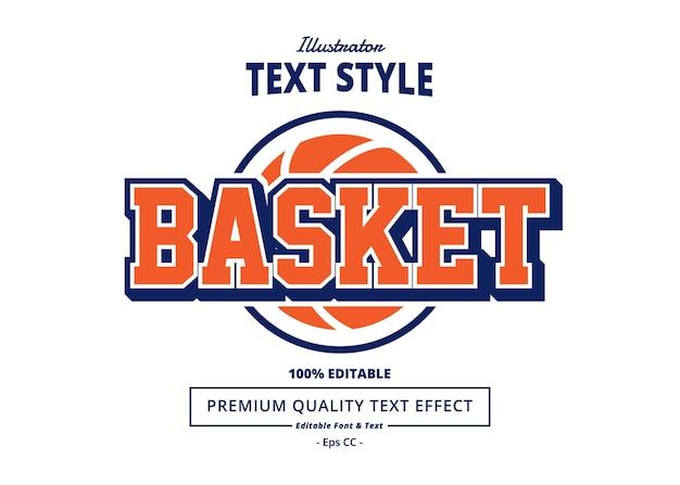 Basket text effect