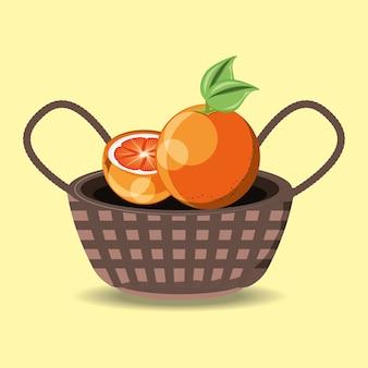Basket with orange fruit