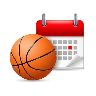 バスケットボールとカレンダー