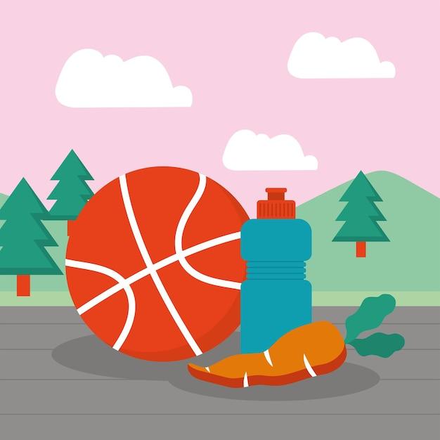 농구와 물병