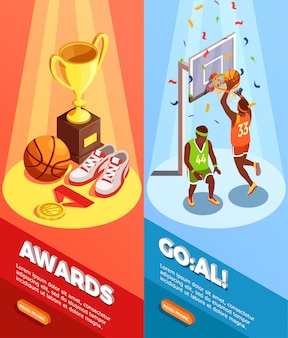 Basketball awards banner verticali