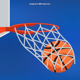농구 배경 및 바구니 공