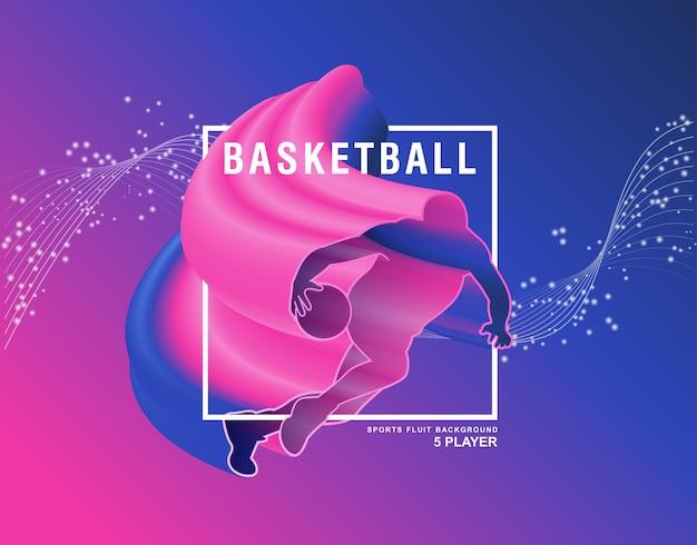 Баскетбол фон флейт вектор