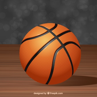Баскетбол фоне в реалистическом стиле
