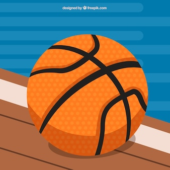 평면 디자인에 농구 공 배경