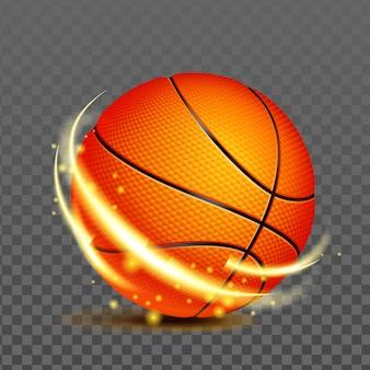스포츠 게임 벡터를 재생하기 위한 농구 공입니다. 운동장에서 농구 전문 낚시를 좋아하는 경쟁을 위한 스포츠 팀 선수 액세서리. 운동 팀웍 현실적인 3d 일러스트 레이 션
