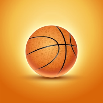 Basketball ball isolated orange icon background. basket ball team illustration design