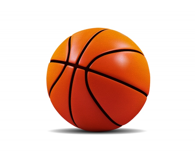 Basketball ball isolated on white