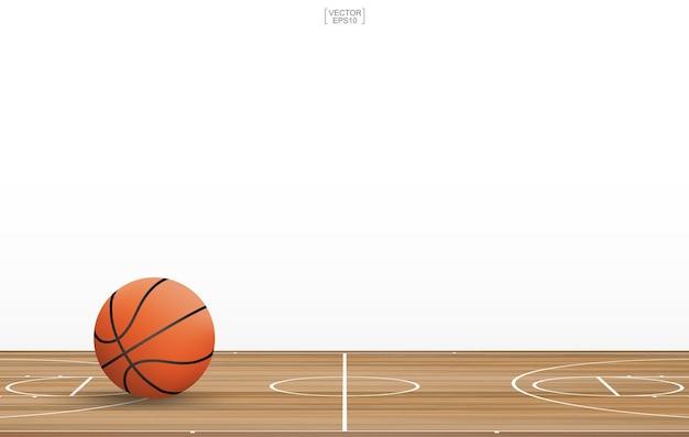 Баскетбольный мяч на площадке