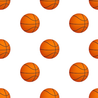 Баскетбольный мяч шаблон на белом фоне. векторная иллюстрация.