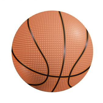 Basketball ball on a white