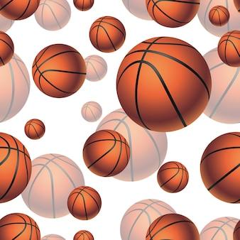 Баскетбольные мячи бесшовные векторные иллюстрации
