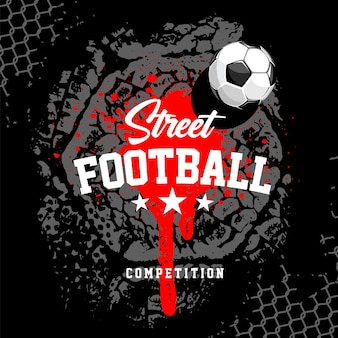 Basketball banner design template with ball and street art elements. vector graphic.