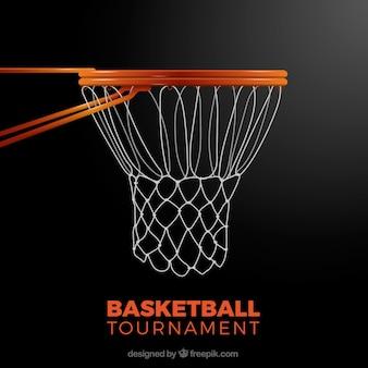 Basketball basket background