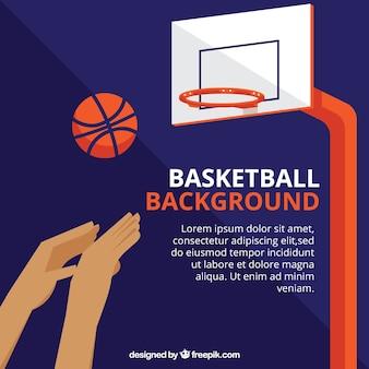 농구 바구니 배경