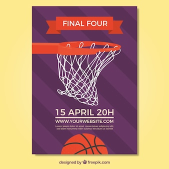 Basketball basket flyer