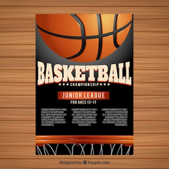 Basketball booklet Premium Vector